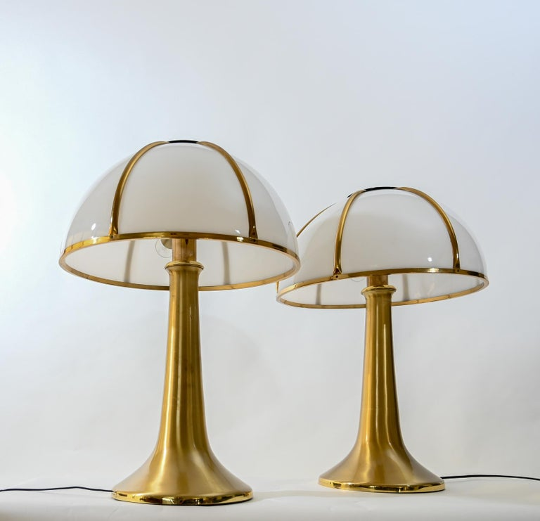 Pair of Signed Gabriella Crespi Fungo Table Lamps For Sale 1