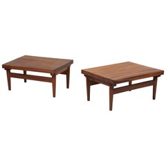 Pair of Signed Studio Craft End Tables, Guatemala, 1960s
