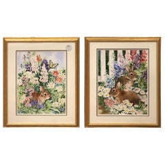 Pair of Signed Watercolors by Susan Peifer