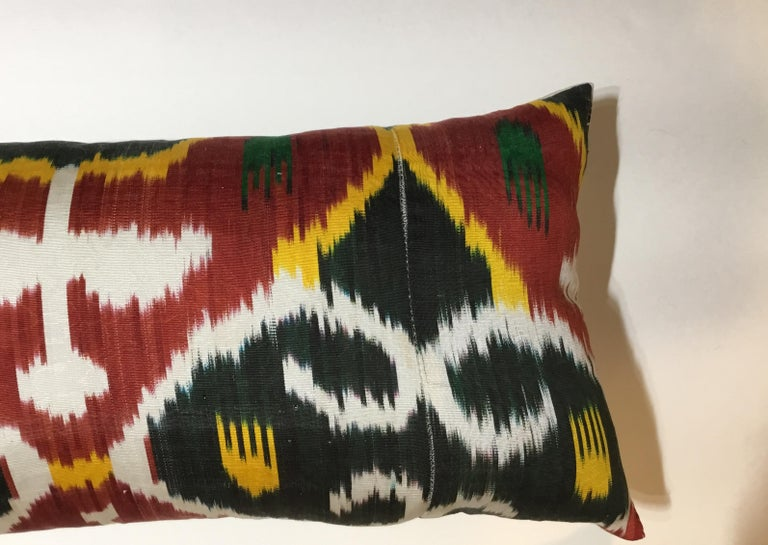 Pair of Silk Ikat Pillows For Sale 4