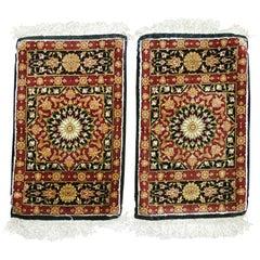 Pair of Silk Persian Mats