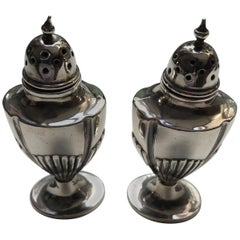 Pair of Silver Adam Style Pepperettes, Birmingham