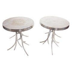 Pair of Silver Antler Tables
