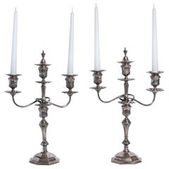 Pair of Silver Candelabras Sealed William Hutton & Sons Ltd., England, 1920