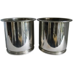 Pair of Silver Champagne Buckets