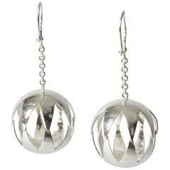 Pair of Silver Earrings by Elis Kauppi for Kupittaan Kulta, Finland, 1960s