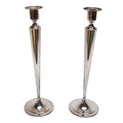 Pair of Silver Fairpoint Candlesticks, 1960s