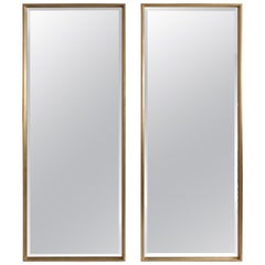 Pair of Silver Gilt Modern Full Length Mirrors
