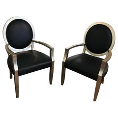 Pair of Silver Leaf Chairs Att. to John Hutton for Donghia