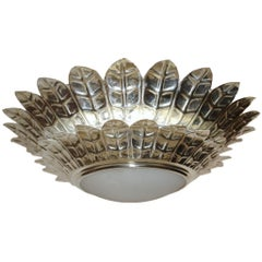 Pair of Silver Plated Italian Light Fixtures