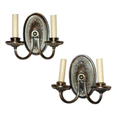 Pair of Silver Plated Sconces