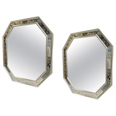 Pair of Silver Plated Venetian Mirrors, Sold Individually