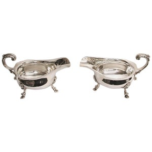 Pair of Silver Sauce Boats Dated 1933, London, Crichton & Co. Ltd