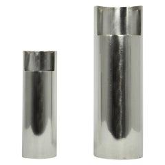 Pair of Silver Vase, 1980s