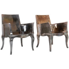 """Pair of Silvered """"Louise"""" Chairs by Paul Mathieu"""