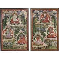 Pair of Sino-Tibetan Framed Paintings
