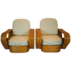 Pair of Six-Strand Pretzel Lounge Chairs Attributed to Paul Frankl
