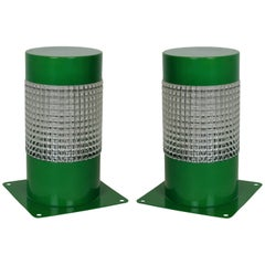 Pair of 1960s Lights in Emerald Green Lacquer