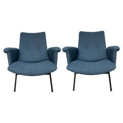Pair of SK660 Armchairs by Pierre Guariche, Steiner Edition, 1953