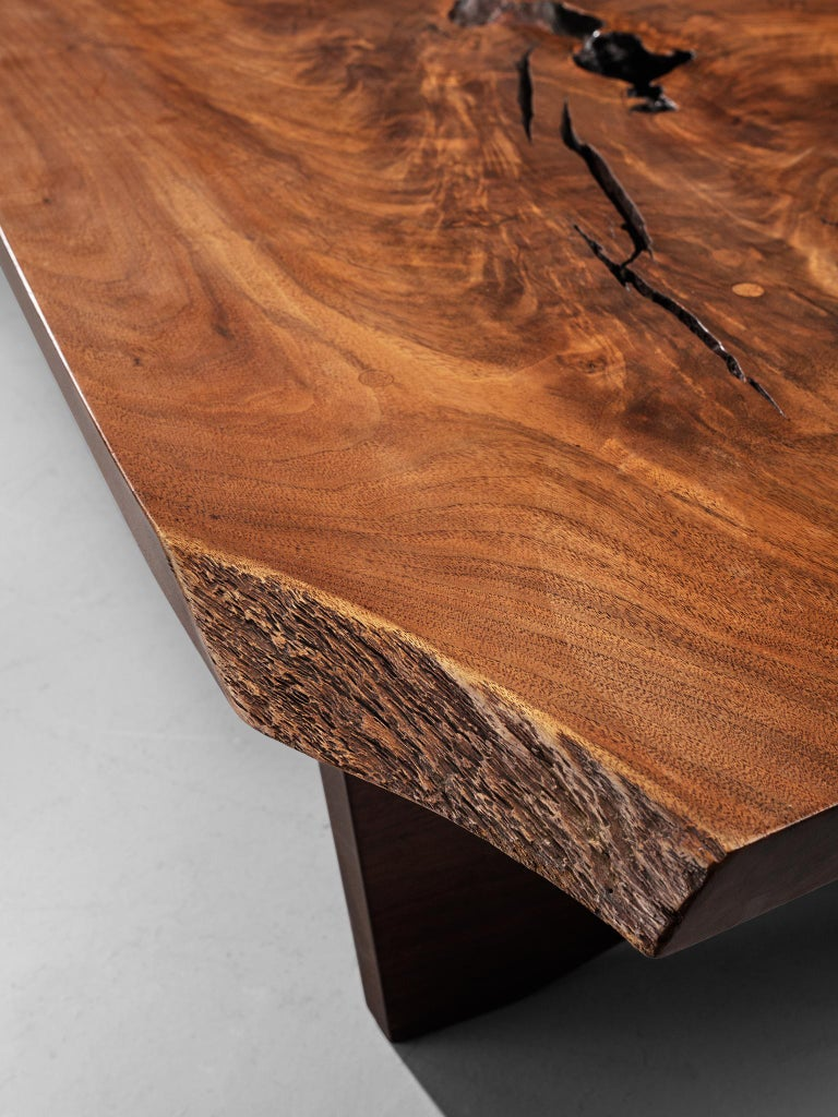 Pair of Slab Coffee Tables by George Nakashima For Sale 5