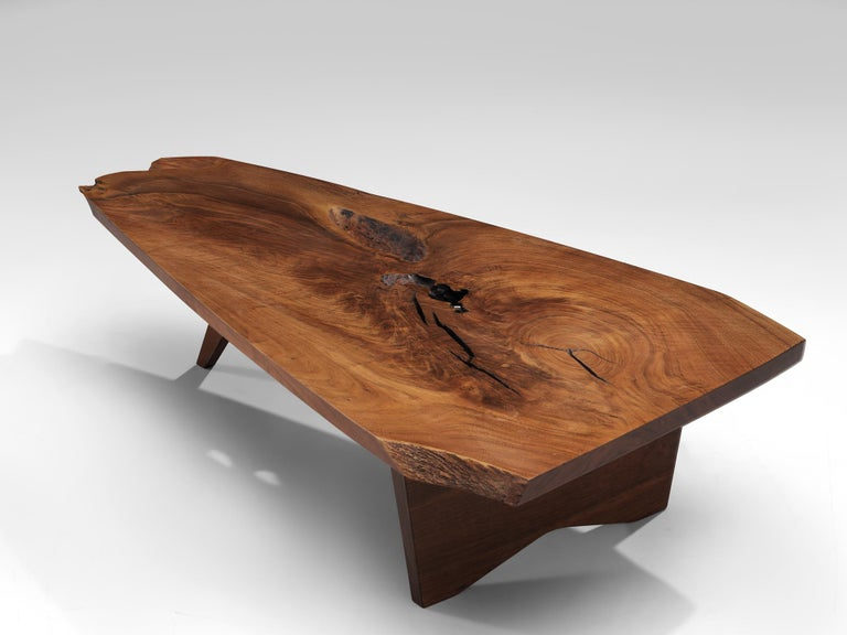 Pair of Slab Coffee Tables by George Nakashima For Sale 6