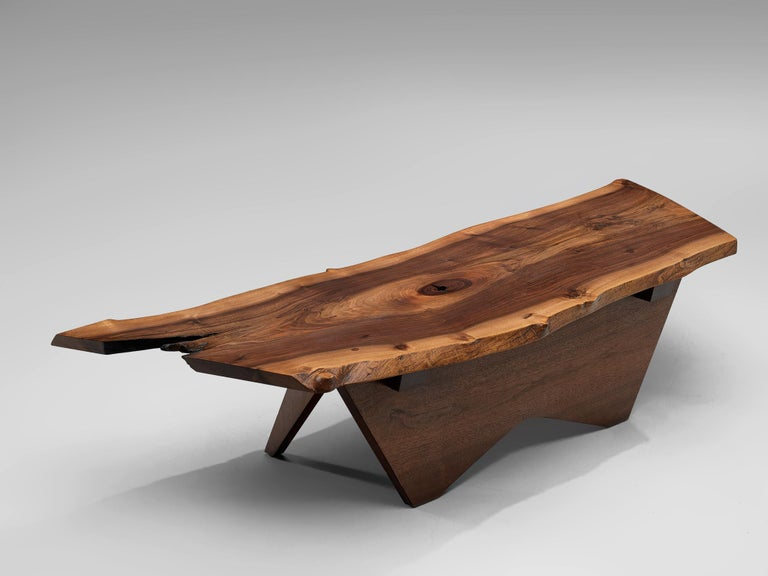 Pair of Slab Coffee Tables by George Nakashima For Sale 7