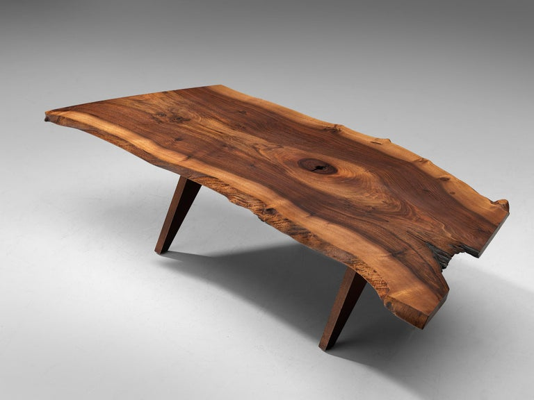 Pair of Slab Coffee Tables by George Nakashima For Sale 8