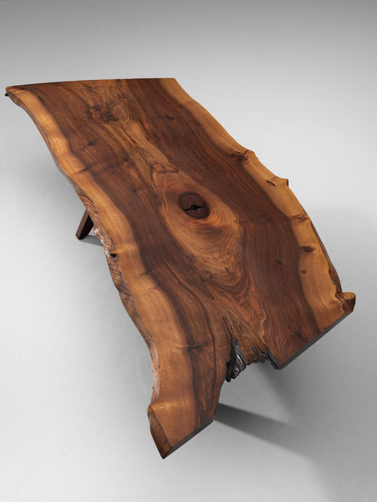Pair of Slab Coffee Tables by George Nakashima For Sale 9