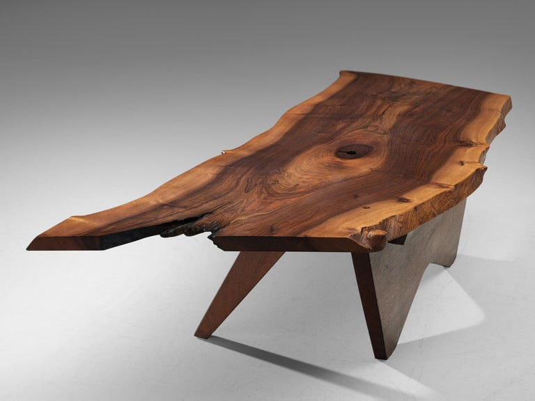 Pair of Slab Coffee Tables by George Nakashima For Sale 11