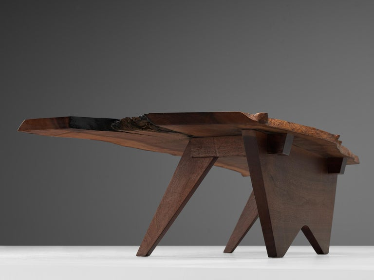 Pair of Slab Coffee Tables by George Nakashima For Sale 12