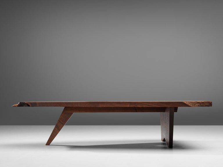 Walnut Pair of Slab Coffee Tables by George Nakashima For Sale