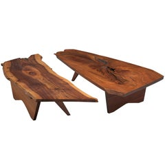 Pair of Slab Coffee Tables by George Nakashima