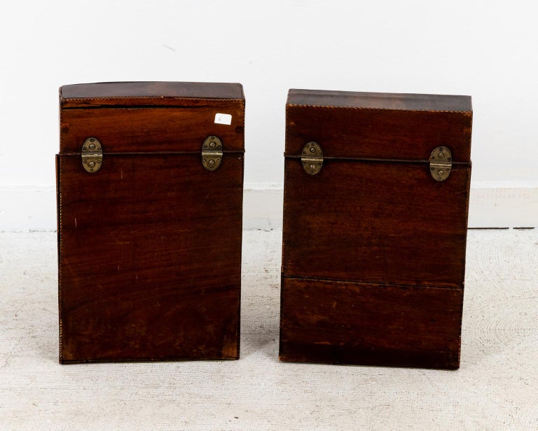 Pair of Slant Front Knife Boxes in the Manner of George Hepplewhite For Sale 3