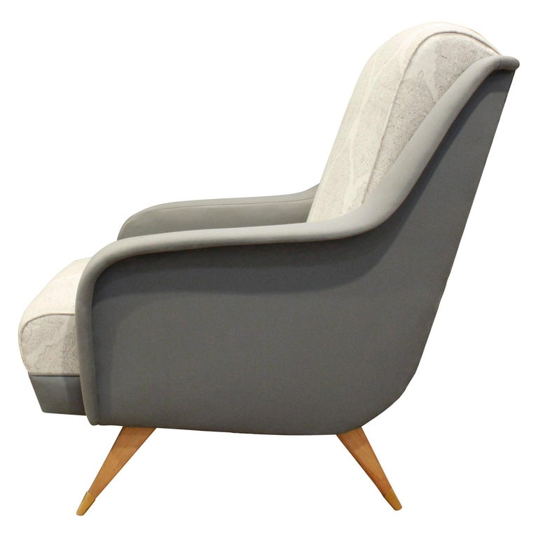 Hand-Crafted Pair of Sleek Italian Lounge Chairs, 1950s For Sale