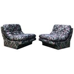 Pair of Sleek Slipper Lounge Chairs Mid-Century Modern