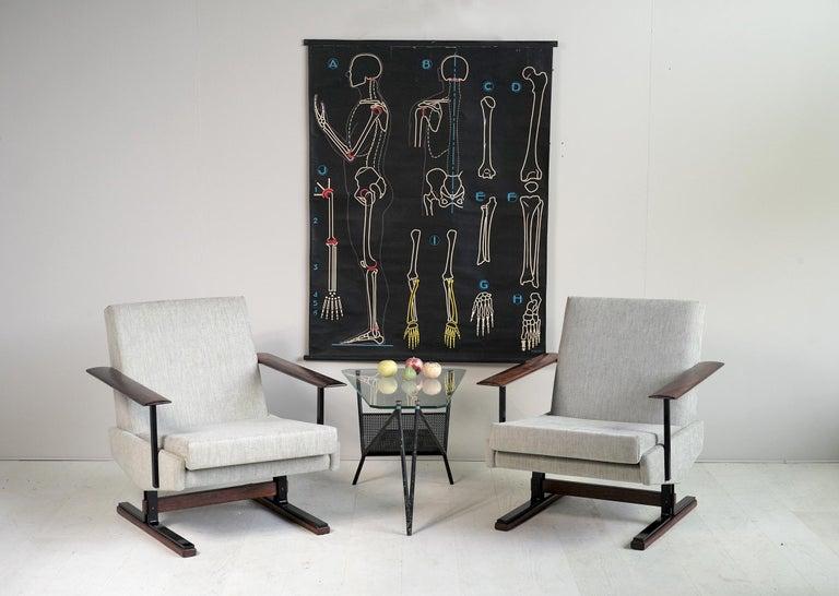 Pair of Sleigh Armchairs, Gelderland, 1960 For Sale 3