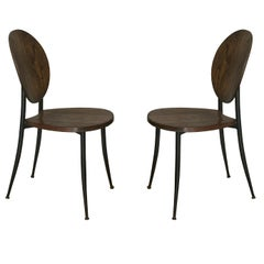 Pair of Slender Side Chairs in the Style of Philippe Starck