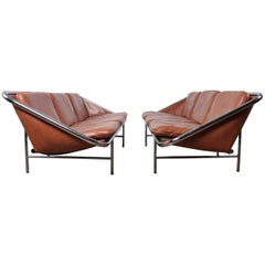 Pair of Sling Sofas by George Nelson