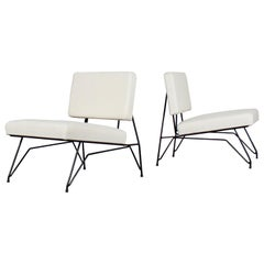 Pair of Slipper Chairs by Cerruti Di Lissone, Italy, 1950s
