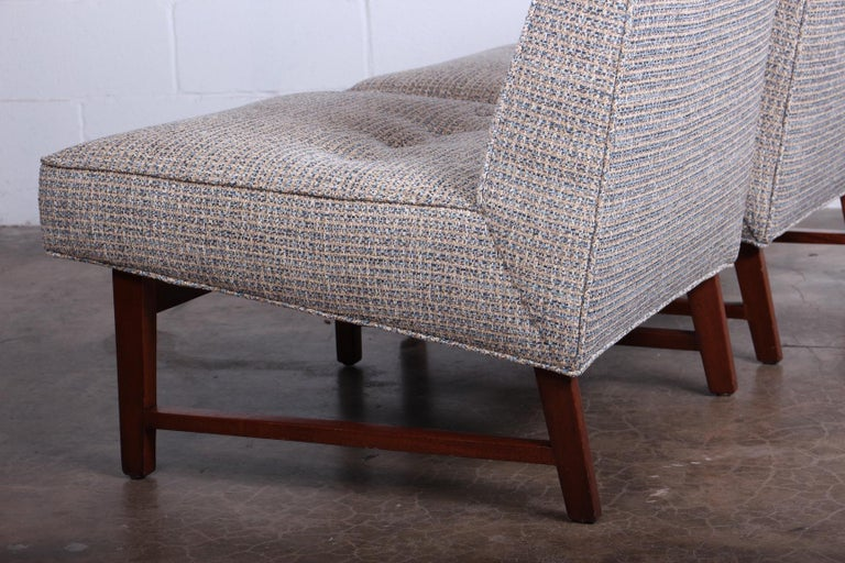 Pair of Slipper Chairs by Edward Wormley for Dunbar For Sale 5