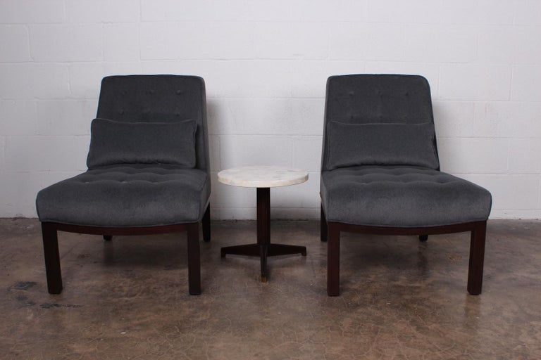 Pair of Slipper Chairs by Edward Wormley for Dunbar For Sale 7