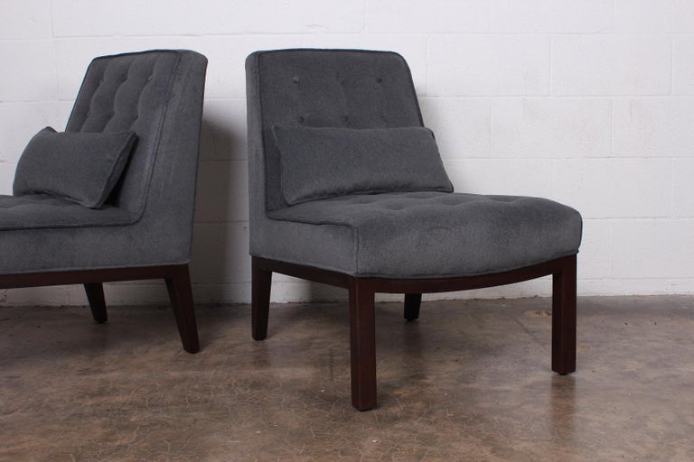 Pair of Slipper Chairs by Edward Wormley for Dunbar In Excellent Condition For Sale In Dallas, TX
