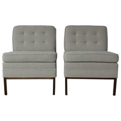 Pair of Slipper Chairs in the style of Florence Knoll, USA, 1950s