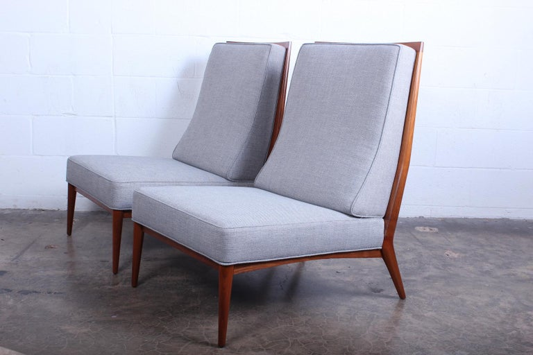 Pair of Slipper Chairs by Paul McCobb For Sale 5