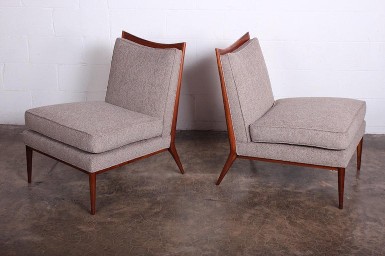 Pair of Slipper Chairs by Paul McCobb In Good Condition For Sale In Dallas, TX