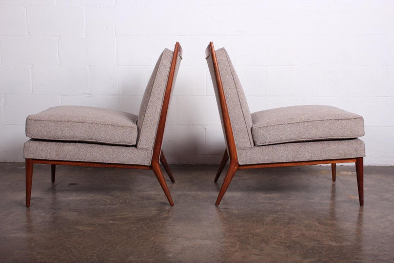 Mid-20th Century Pair of Slipper Chairs by Paul McCobb For Sale