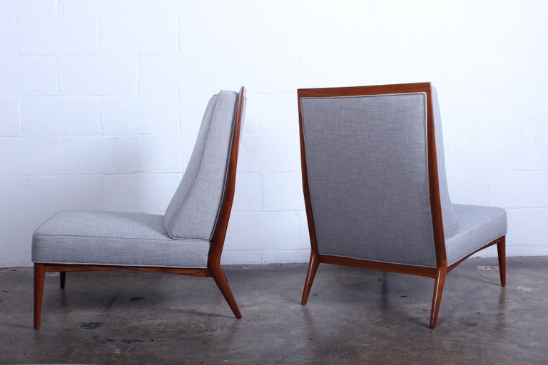 Walnut Pair of Slipper Chairs by Paul McCobb For Sale