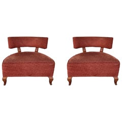 Pair of Slipper Chairs by Thayer Coggin