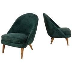 Pair of Slipper Chairs, circa 1940, France
