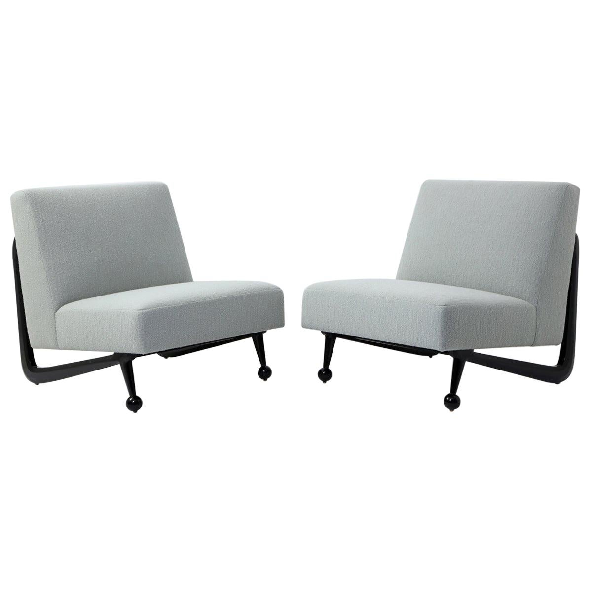 Pair of Slipper Chairs in the Style of Paul Lazslo